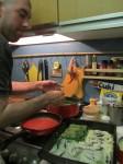 Spinach, besciamella, tomato sauce and cannelloni!